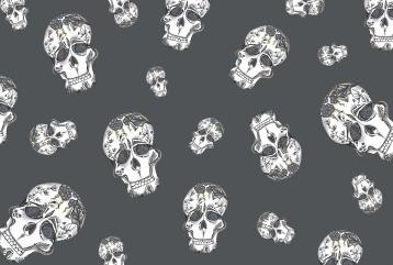 Gray Skull Pattern